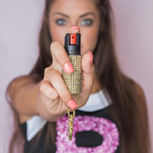Load image into Gallery viewer, Rhinestone Pepper-Spray Holder Golden Girl
