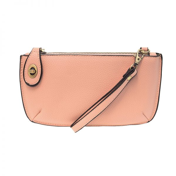 Soft Pink Mini Crossbody Wristlet Clutch