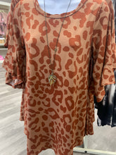 Load image into Gallery viewer, Burnt Sienna Leopard Tunic