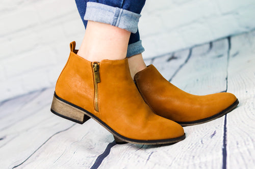 Saber Camel Ankle Boot