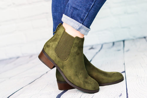Chelsea Olive Ankle Boot
