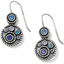 Load image into Gallery viewer, Halo Tanzanite French Wire Earrings