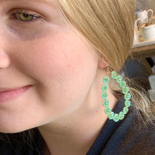 Load image into Gallery viewer, Mint Floral Earrings