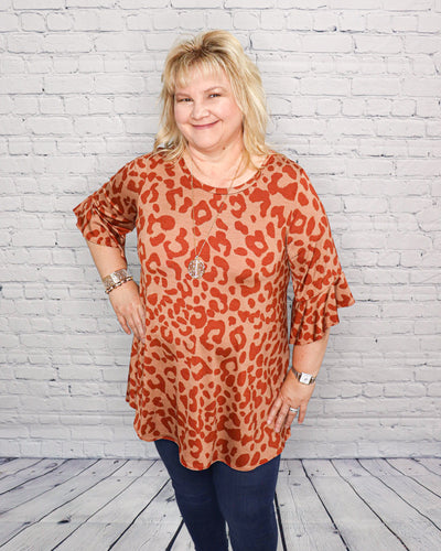 Burnt Sienna Leopard Tunic