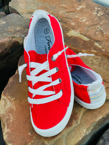 Candi Comfort Sneakers-Red
