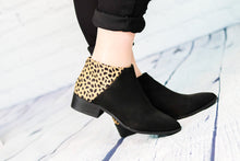 Load image into Gallery viewer, Occasion Leopard and Black Ankle Boot