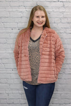 Load image into Gallery viewer, Faux Rabbit Fur Jacket Pink