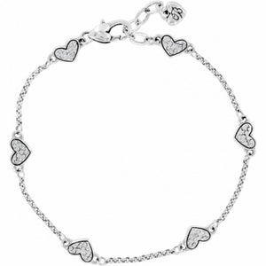 Kiss & Tell Anklet Silver/Stone
