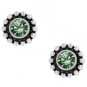 Twinkle Mini Post Earrings-Emerald