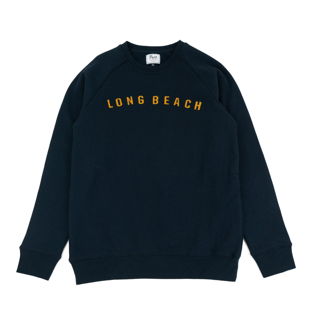LONG BEACH FELT CREW NAVY/GOLD
