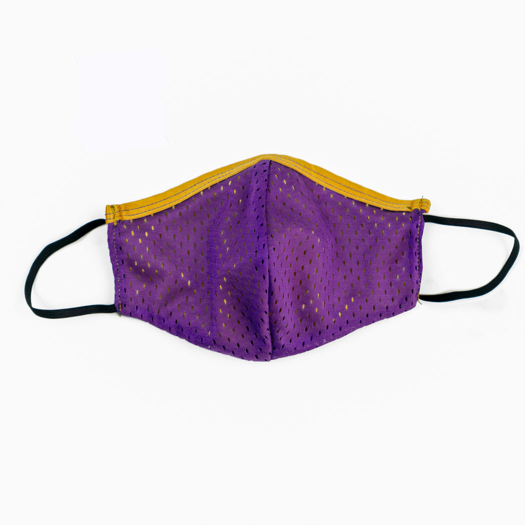 Purple & Gold Face Mask