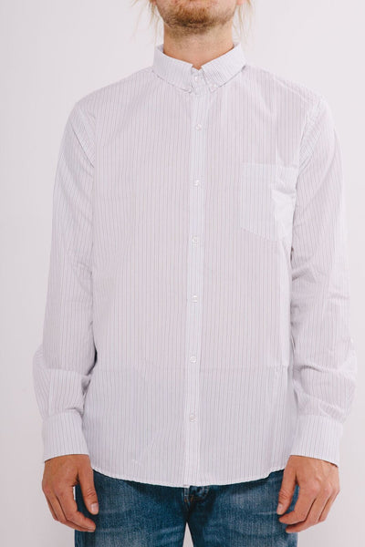 QUINCEY STRIPPED LONG SLEEVE WHITE