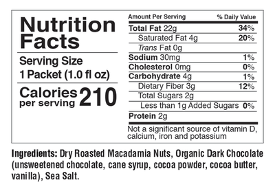 Macadamia Nut Butters (10-Count Single-Flavor Pouch)
