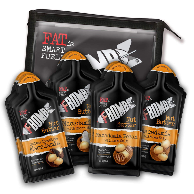 FBOMB Nut Butter Variety Pack (16-Count Pouch)