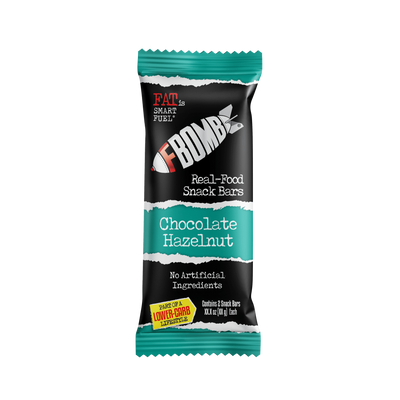 FBOMB Chocolate Hazelnut Real-Food Snack Bars