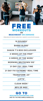Beachbody Sample Workouts - FREE!