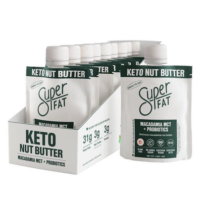 SuperFat Macadamia MCT + Probiotics Nut Butter - (Box of 10)
