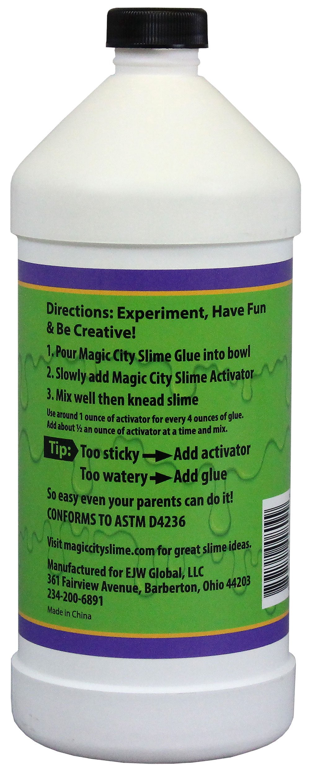 Magic City Clear Slime Glue, Non Toxic, Specifically Formulated for Making Slime  (32 Ounces)