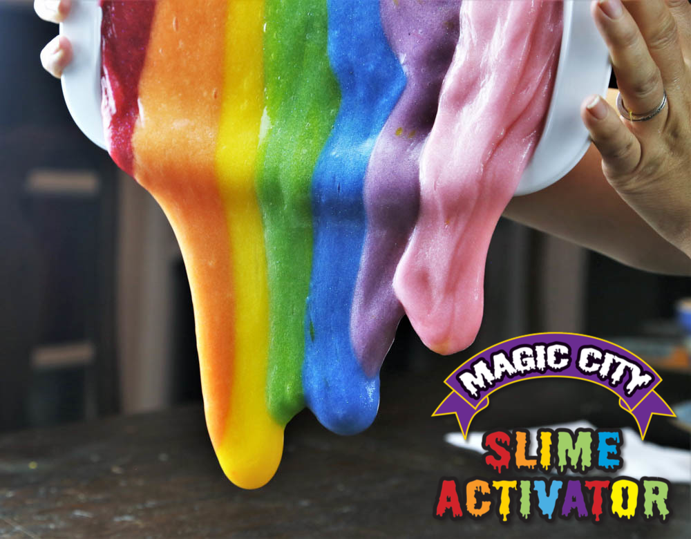 Magic City Clear Slime Glue - Non Toxic, Specifically Formulated for Making Slime, Just Add Slime Activator for Great Slime Every Time (1 Gallon)