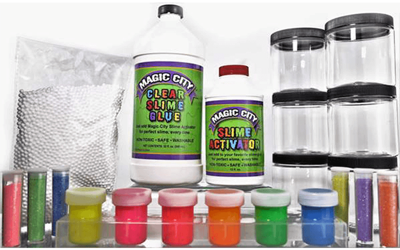 Magic City Complete Slime Kit, Non Toxic, Includes Everything You Need To Make All Kinds of Slime