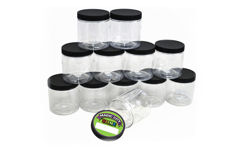 Magic City Clear Slime Jars, 8 oz, 12 Pack