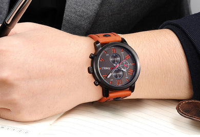 Masculine Mech Wrist Watch
