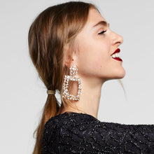 Load image into Gallery viewer, Diamond Block Earrings
