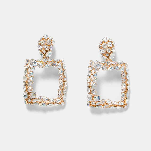 Diamond Block Earrings
