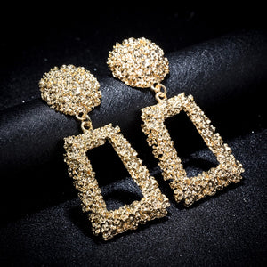 Golden Crusblock Earrings