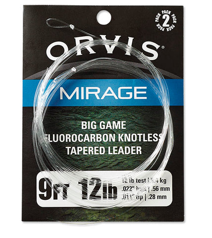 ORVIS MIRAGE FLOUROCARBON BIG GAME LEADERS 2PK