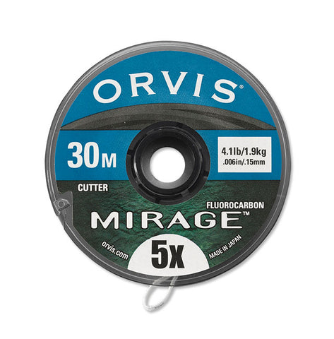 ORVIS MIRAGE FLOUROCARBON TIPPET MATERIAL (30 & 100 METER SPOOLS)