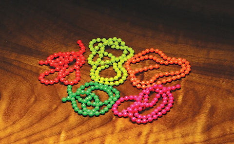 FLOURESCENT BEAD CHAIN EYES