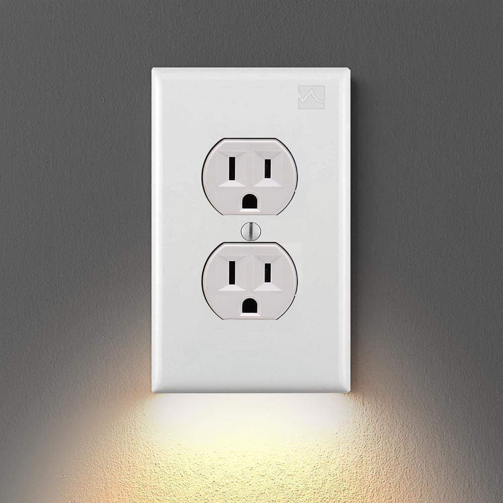 Outlet Wall Plate With LED Night Lights