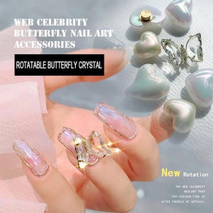 3D Crystal Butterfly Nail Charms (5PCS)