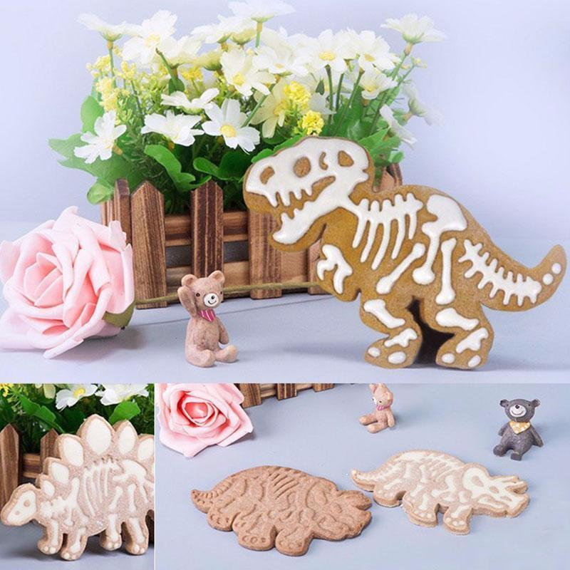 Dinosaurs Cookie 3D Model Set