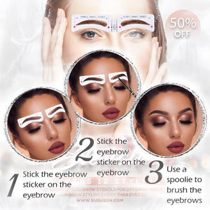 Eyebrows Stencil Stickers 12 Styling