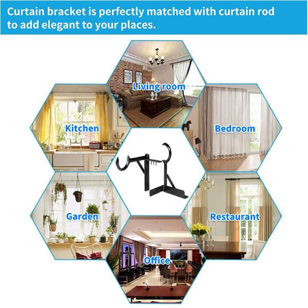 Curtain Rod Brackets (2pcs)