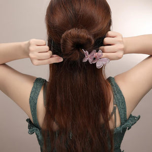 Elegant Butterfly Hair Bun Maker