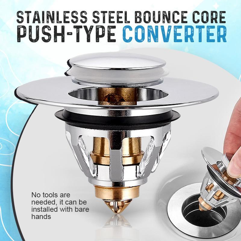 Zezzo®Stainless Steel Bounce Core Push-type