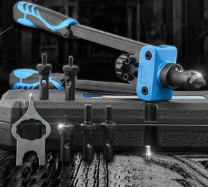 Double handle riveting tool