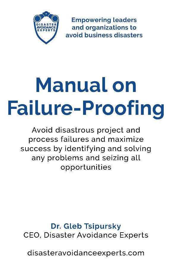 Manual on Failure-Proofing