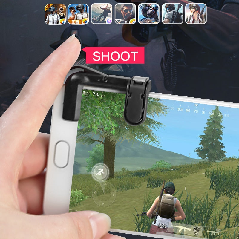 Knives out Rules of Survival Mobile Game Fire Button Aim Key Smart phone Mobile Gaming Trigger - NeobitShop