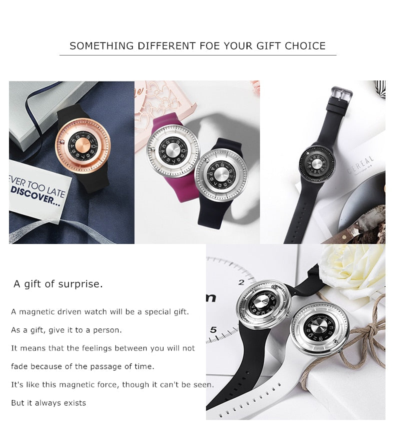Creative Ball Rotation Brand New Men Watches Stainless Steel Silicone Strap Quartz Sport Watch Men - NeobitShop