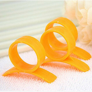 Plastic Orange Peeling Tool With Ring Open Orange Peeler Finger - NeobitShop