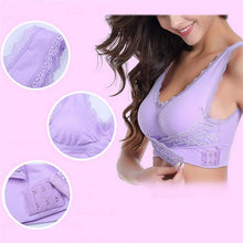 Load image into Gallery viewer, Wireless Front Cross Buckle Lace Lift Bra