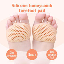 Load image into Gallery viewer, Silicone Honeycomb Forefoot Pad