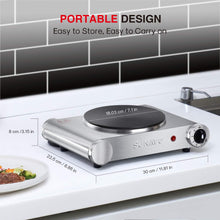Load image into Gallery viewer, SUNAVO Hot Plate for Cooking Portable Electric Single Burner 1500W 5 Power