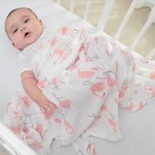Load image into Gallery viewer, 1Pc Muslin 100% Cotton Baby Swaddles Soft Newborn Blankets Bath Gauze Infant Wrap Sleepsack Stroller Cover Play Mat Baby Deken