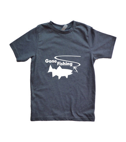 Gone Fishing Youth Boy's Shirt