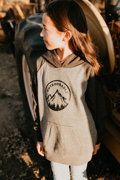 Outdoorable Charcoal and Grey Hoodie